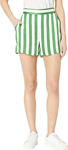 - Juicy Couture Women's Awning Stripe Satin Shorts Green Tea/Awning Stripe 4 3