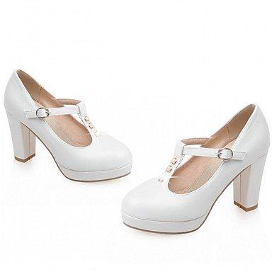 Le donne eleganti sandali SEXY DONNA PRIMAVERA tacchi cadono Comfort similpelle Office & Carriera Party & abito da sera Chunky tacco fibbia di strass rosa Bianco Beige , rosa , us6.5 / EU38 / UK5 big
