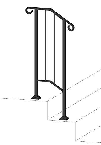 - DIY Iron X Handrail Picket #1 Fits 1 or 2 Steps