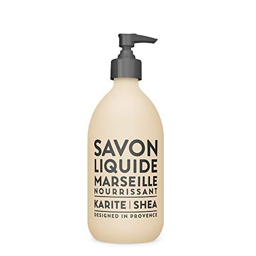 Compagnie de Provence Savon de Marseille Extra Pure Liquid Soap - Karite Shea Butter - 16.9 Fl Oz Glass Pump Bottle