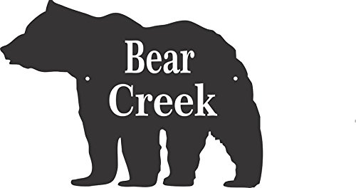 Comfort House Bear Plaque - Custom Bear Shape Sign For Address, Cabin Name, Location Marker, Or Other Custom Message - #CBEAR12085-2L by Comfort House