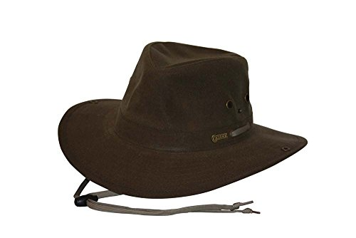 Outback Trading Oilskin River Guide Hat, Brown, Medium