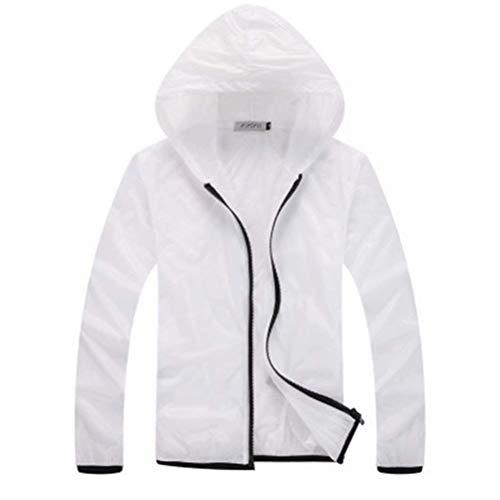 Solar Men Ropa Color Rompevientos Protección De Rápido Outwear Huixin Transpirable Secado 2 Ropa Size Solar Nner Unisex Protector White Ropa Piel UV L De qPcptCH