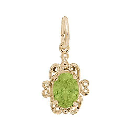 Rembrandt Charms Yellow Gold August Birthstone ()