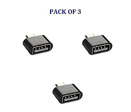 PRASHA Micro USB OTG Adapter  Pack of 3  Mobile Accessories