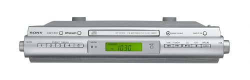 sony kitchen radio under cabinet sony icfcdk50 cabinet kitchen cd clock radio buy 26482