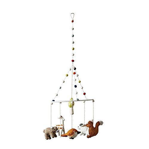 Farm Animals Mobile - First of a Kind Wool Woodland Animal Mobile 27