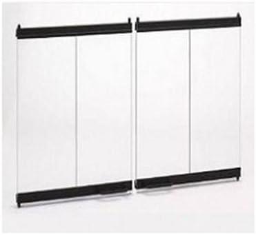 Majestic Original Bi-Fold Glass Doors w//Black Trim for SAC and SAR