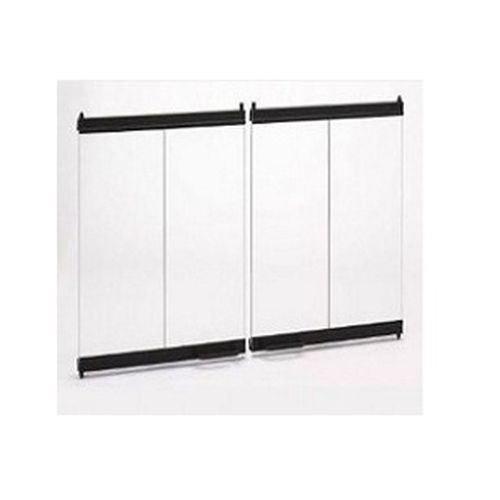 Monessen Hearth Systems Original BI-Fold Glass Doors w/Black Trim for SB80 ()