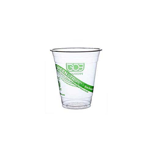 Eco-Products EPCC12GS GreenStripe Renewable & Compostable Cold Cups - 12oz, 50/PK, 20 PK/CT