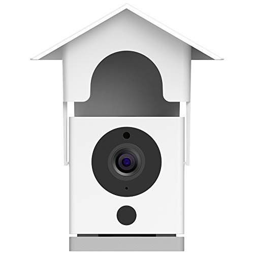 Aobelieve Outdoor Wall Mount and Weather-Resistant Birdhouse Cover for Wyze  Cam v2 Camera (White)