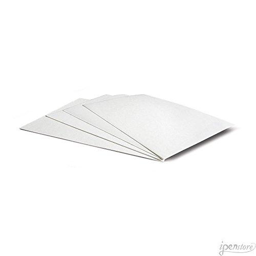 Ink Blotter Paper - Pk/10 Rosetta Blotter Paper Sheets, 7-3/4 x 4-3/4, 17 pt (270 gsm), Blank White