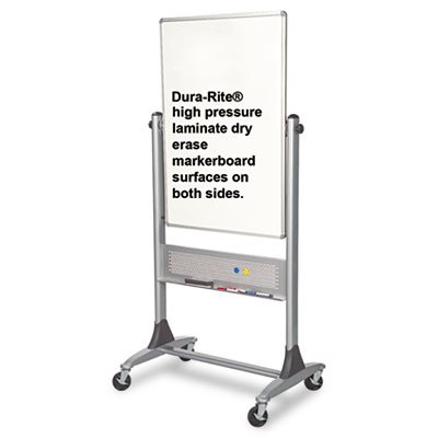 Best-Rite Platinum Mobile Reversible Whiteboard Easel, 30 x 40 Inches Panel Size,  Dura-Rite HPL Markerboard Surface (669RU-HH) by Best-Rite