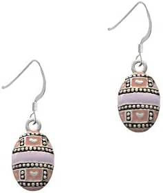 Egg Pink & Lavender French Earrings