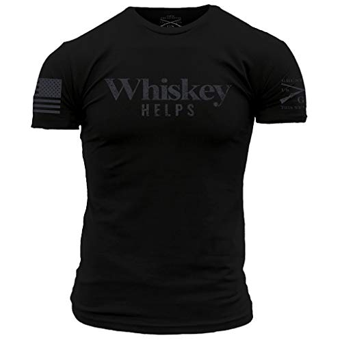 Style Tee T-shirts - Grunt Style Whiskey Helps Men's T-Shirt, Color Black, Size Large