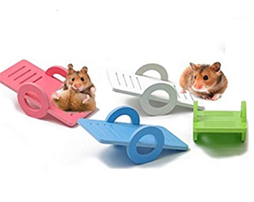 Funny Pet Toys Animal Toys 1pc Pet Durable Hamster Seesaw Pet Grinding Toy (Random Color)