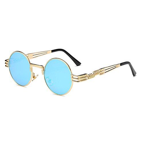 soleil Polarized Lunettes Steampunk de Métal Hommes Femmes Rond C12 Gothique WrapEyeglasses hibote 8Zx08v