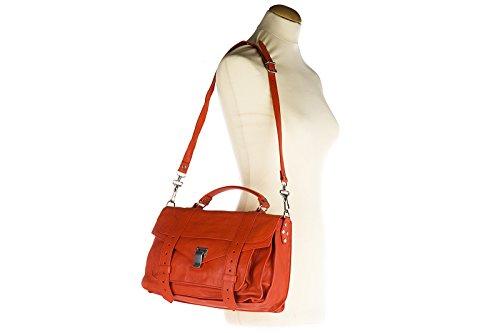 cuir medium main femme orangene sac en à Proenza Schouler lux SqH7xY
