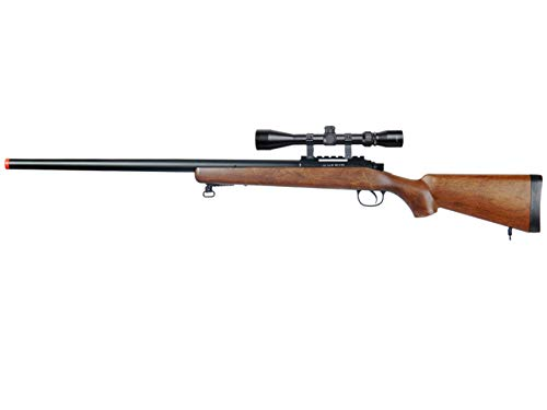 Well MB03 Airsoft Sniper Rifle W/Scope - Wood
