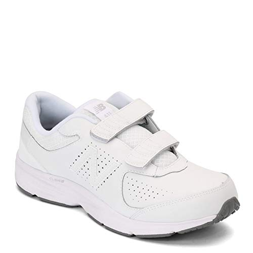 New Balance Men's, 411v2 Walking Shoe White 10.5 4E