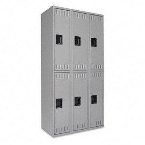 Tennsco DTS121836CMG Double Tier Locker, Triple Stack, 36w x 18d x 72h, Medium Gray