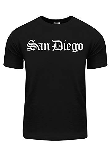 BU106_L West Coast San Diego City Name Puff Script L