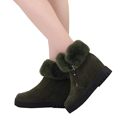 - Gyoume Teen School Boots,Women Ankle Boots Winter Snow Boots Warm Flat Wedge Boots Shoes