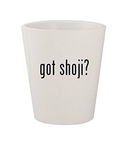 got shoji? - Ceramic White 1.5oz Shot Glass
