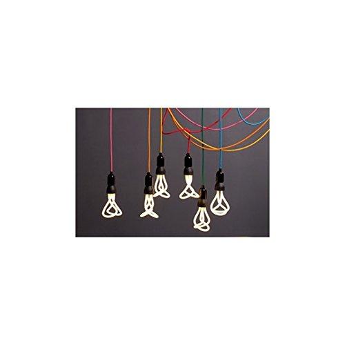 2x0.75 Elektrisches Kabel rund /überzogen mit Textil-Seideneffekt Einfarbig Schwarz RM04-1 Meter