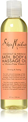 SheaMoisture Coconut & Hibiscus Bath, Body & Massage Oil | 8 oz. Body Massage