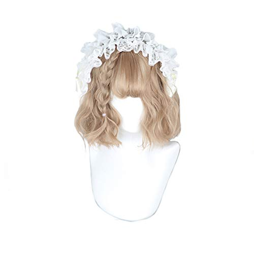 aiyaya Flaxen Curly Wig Synthetic product image