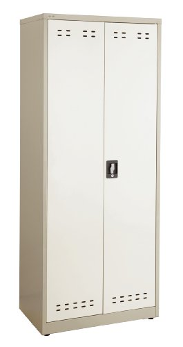 "Safco Products 5532TN Steel Storage Cabinet, 72"" High, Wall"