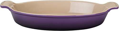 Le Creuset Heritage Stoneware 24-Ounce Oval Au Gratin Dish, Cassis