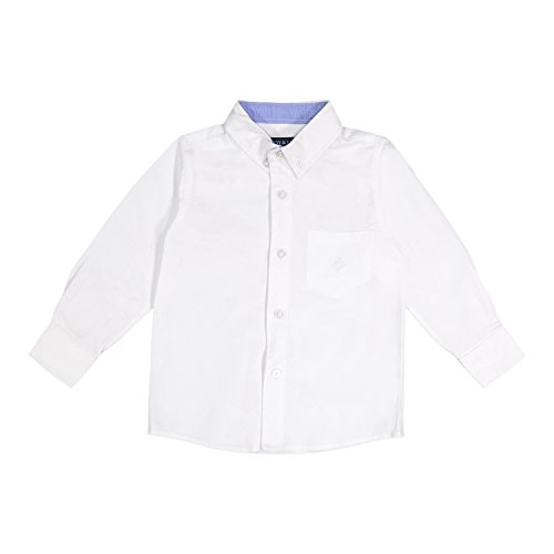Andy & Evan Infant & Toddler Boy's Long Sleeve Oxford/Flannel Button Down Shirtzie (0-24M) and Shirt - Shirt Placket Oxford