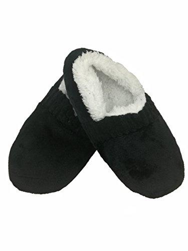 Dai Tai Heren Herfst Winter Indoor Antislip Vloer Schoenen Slippers Sokken Hgttw680 Zwart