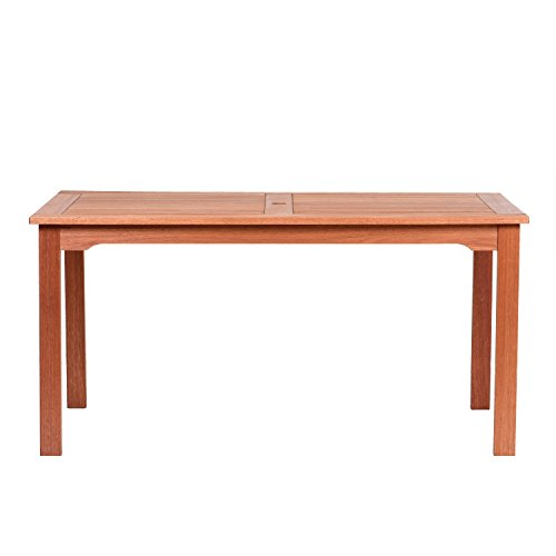 Amazonia Milano Eucalyptus Rectangular Table