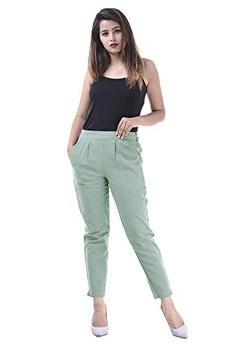 INDICUM Ladies/Girls/Women's Regular Formal Fit Pants |Trousers| Palazzo |Cotton Fabric|Color-Wine| Fast Color| AZO Free