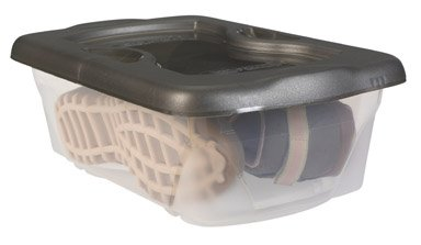 RHP2217WHI - Rubbermaid Roughtote Clear Storage - Storage Shoe Rubbermaid