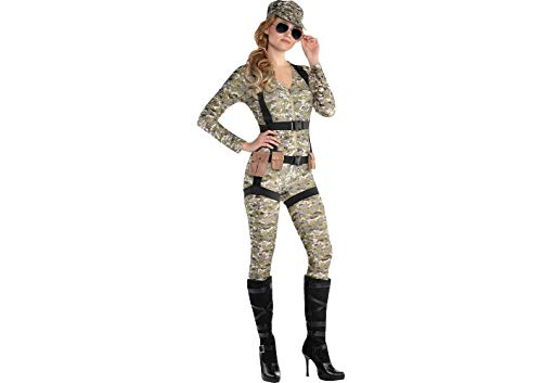 AMSCAN Skyfall Suzie Paratrooper Halloween Costume for Women, Medium, with Included Accessories -