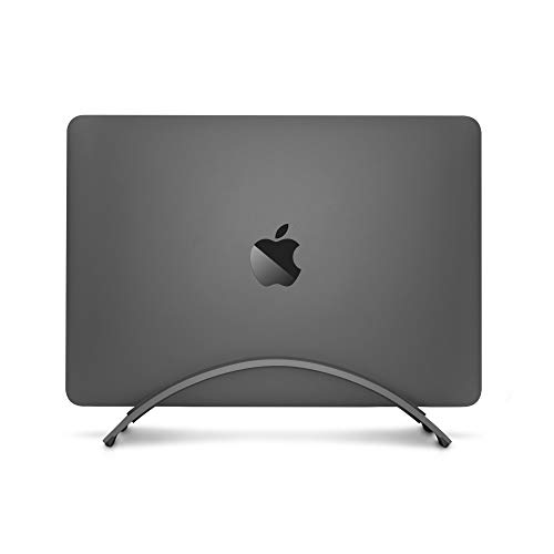 (Twelve South Bookarc for MacBook | Space-Saving Vertical Desktop Stand for Apple Notebooks (Space Grey))