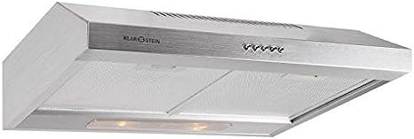 Klarstein 90MS7 Campana extractora acero inoxidable 60cm (Extractor de humos cocina, capacidad de extracción de 300m³/h): Amazon.es: Grandes electrodomésticos