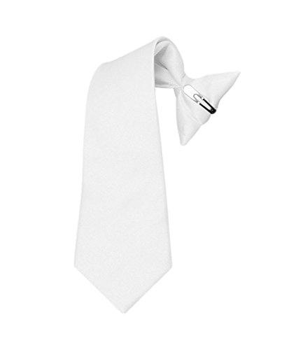 Boy's Solid Clip on Tie (11 inch,