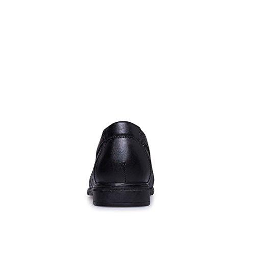 Spades & Clubs Elegante Schuhe, Herren, 6,1cm hoher versteckter Absatz, echtes Krokoleder, für Hochzeiten/ formale Anlässe Schwarz
