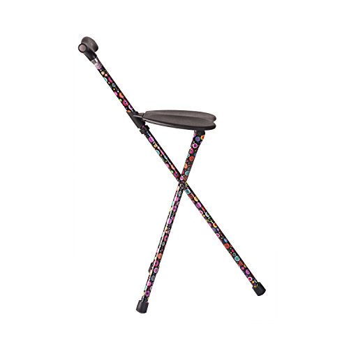 Switch Sticks Walking Stick With Seat, 2-in-1 Folding Walking Stick Seat, Bubbles by Switch Sticks (Image #1)