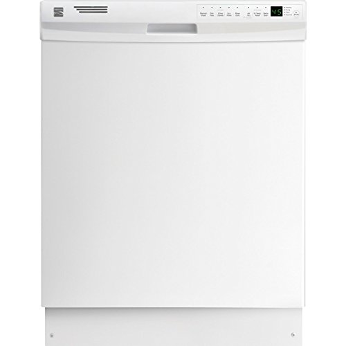 Kenmore 12332 24″ Built-In with SS Interior ADA Qualified Dishwasher, White