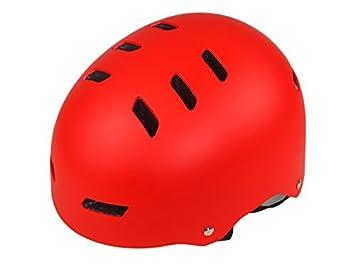 Plsonk Único Casco de Seguridad para niños Casco de Seguridad para niños (Rojo) para