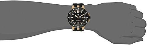 Swiss Legend Men's 10126-RG-01-BB Challenger Black Textured Dial Black Silicone Watch