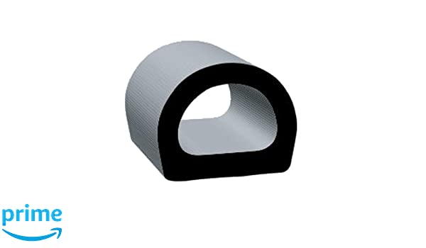 Clean Seal 1750P-50 UniversalD Shape EPDM Seal Strip.76 x .825 Black 50/' Length 50 Length