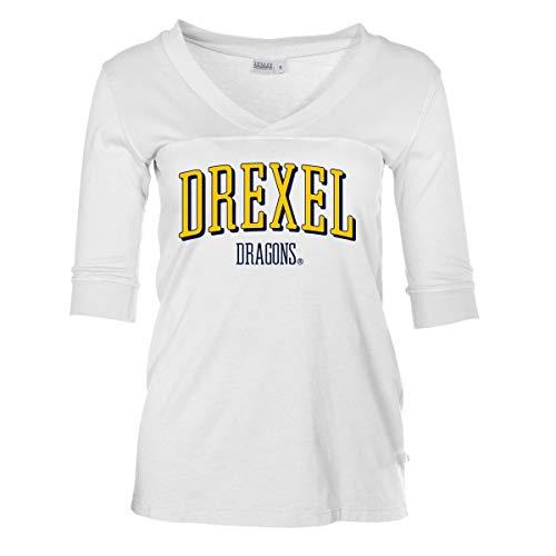 Official NCAA Drexel University Dragons - Women's 3/4 Sleeve Football V-Neck Tee ()