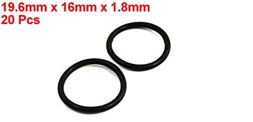 20 Meccanico O-ring di tenuta olio guarnizione O-ring nero 19,6 mm x 1,8 mm a14022400ux0322 Sourcingmap